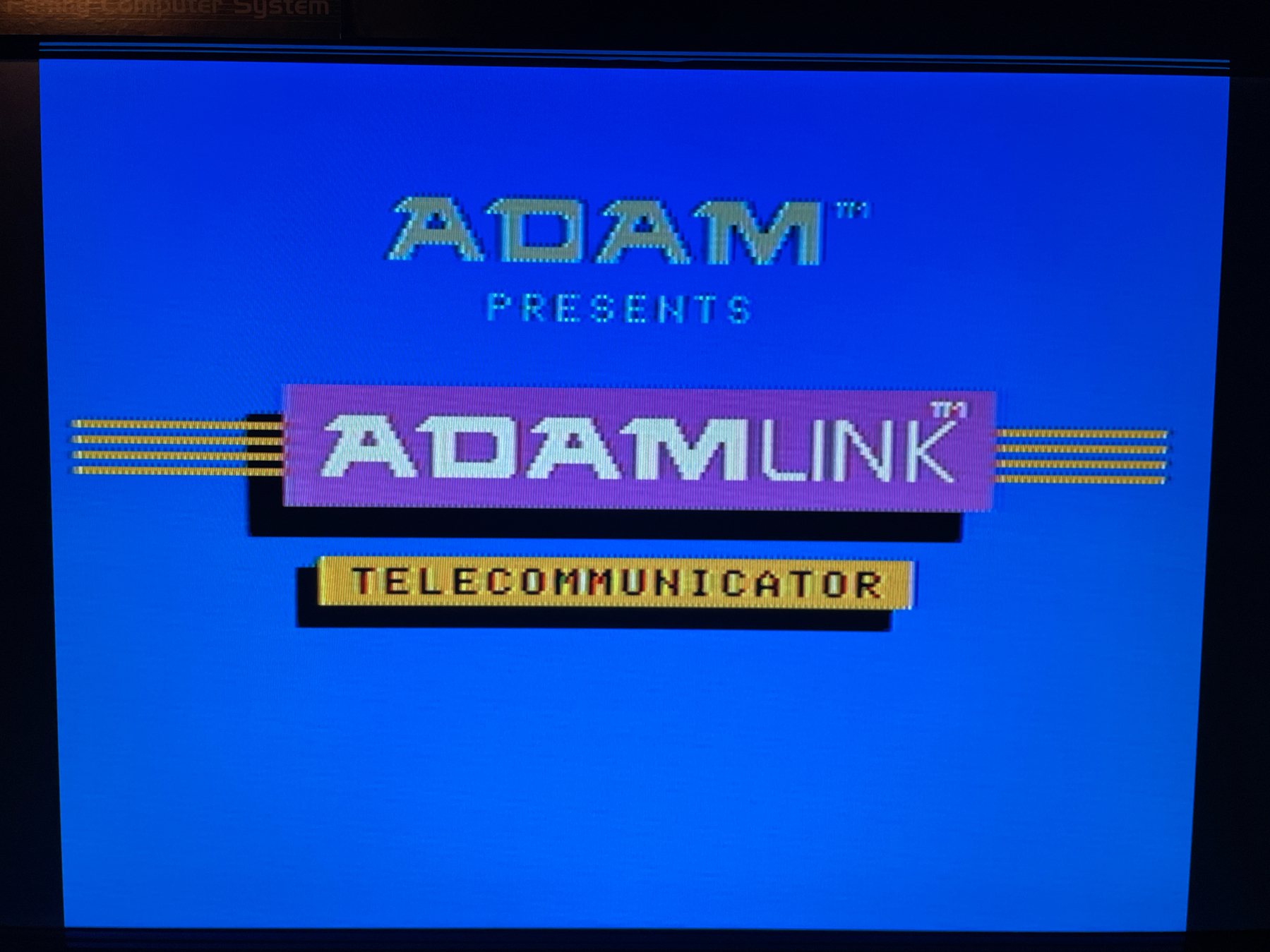 ADAMLink splash screen