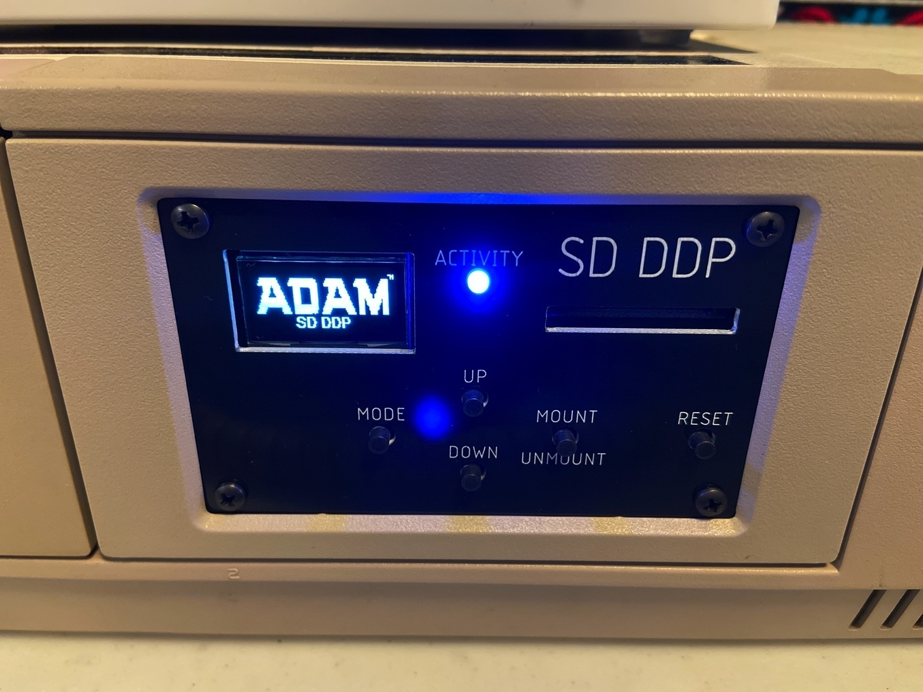 The SD-DDP installed in my ADAM and powered up.