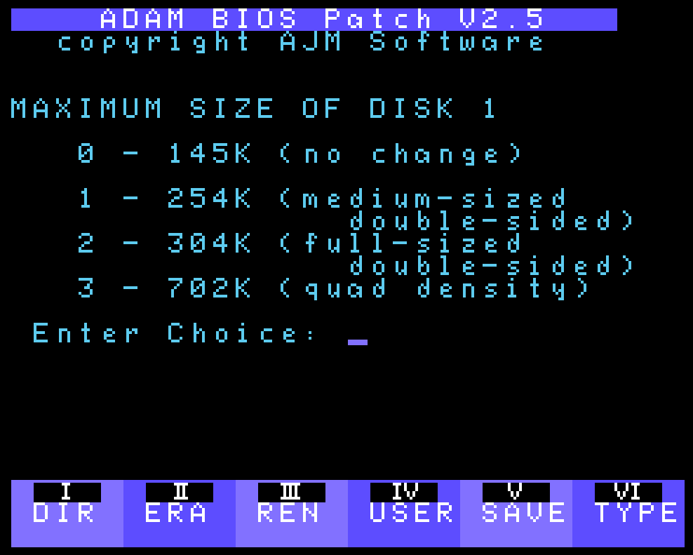 ADAM BIOS Patch v2.5 Screenshot